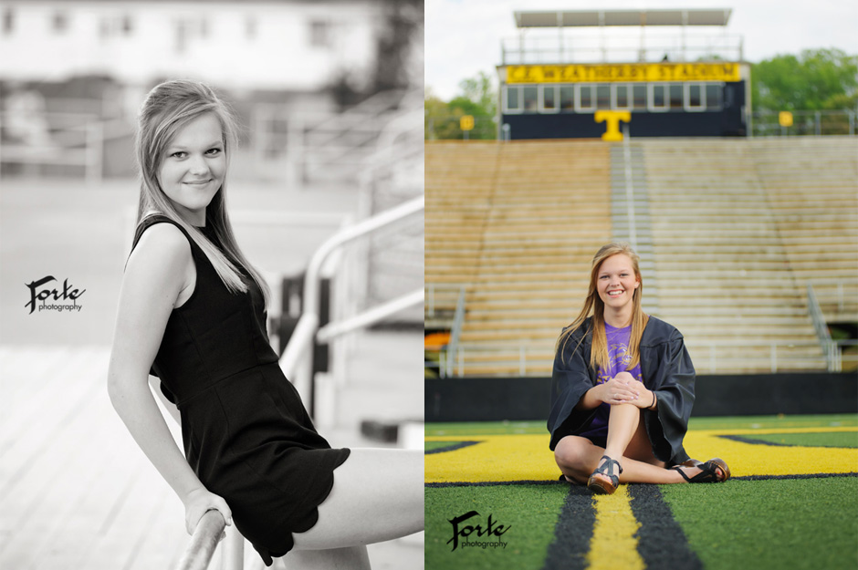 Senior Portrait Graduation - Football Stadium