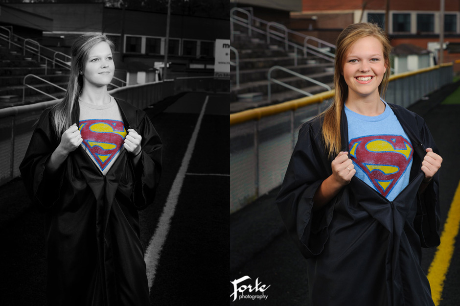 Senior Graduation Portrait - Superman
