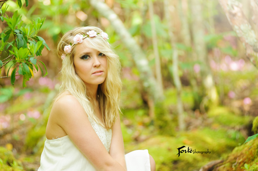 Senior Photo Asheville flower