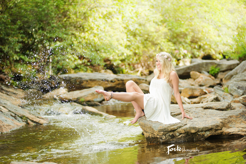 Water senior Photo Asheville