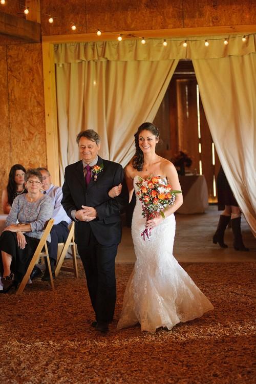 Coming down the isle Wedding Photographer