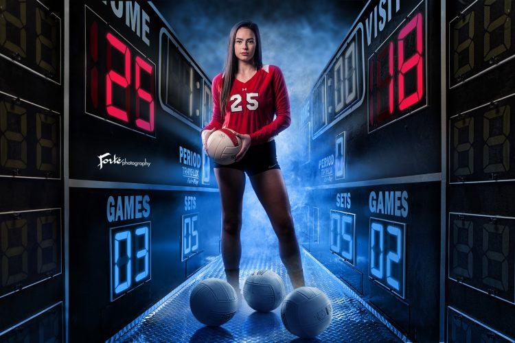 Sam Senior Volleyball Portrait