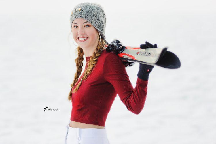 Senior Portraits Snow Ski Asheville