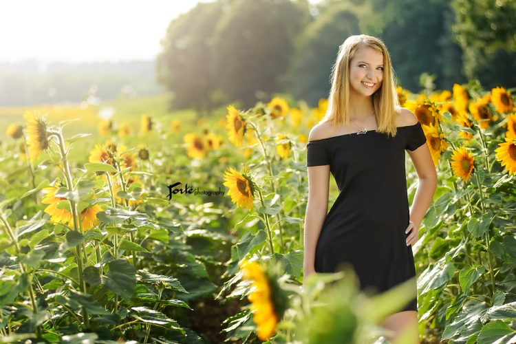 Sunflower Asheville Senior Portraits