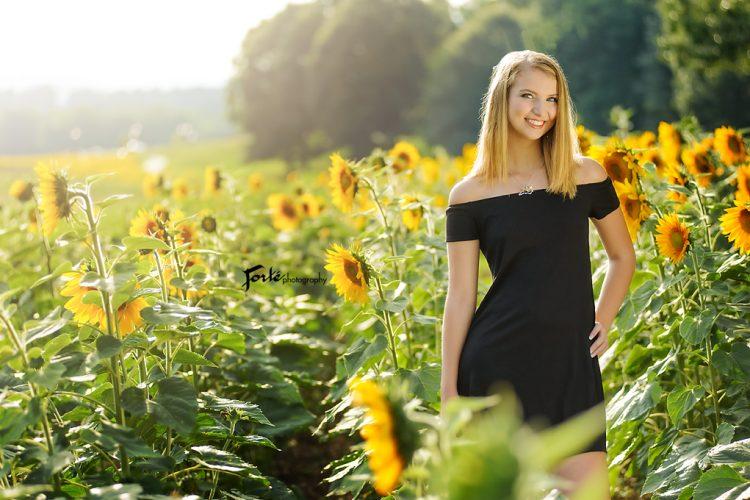 Sunflower Asheville Senior Portraits
