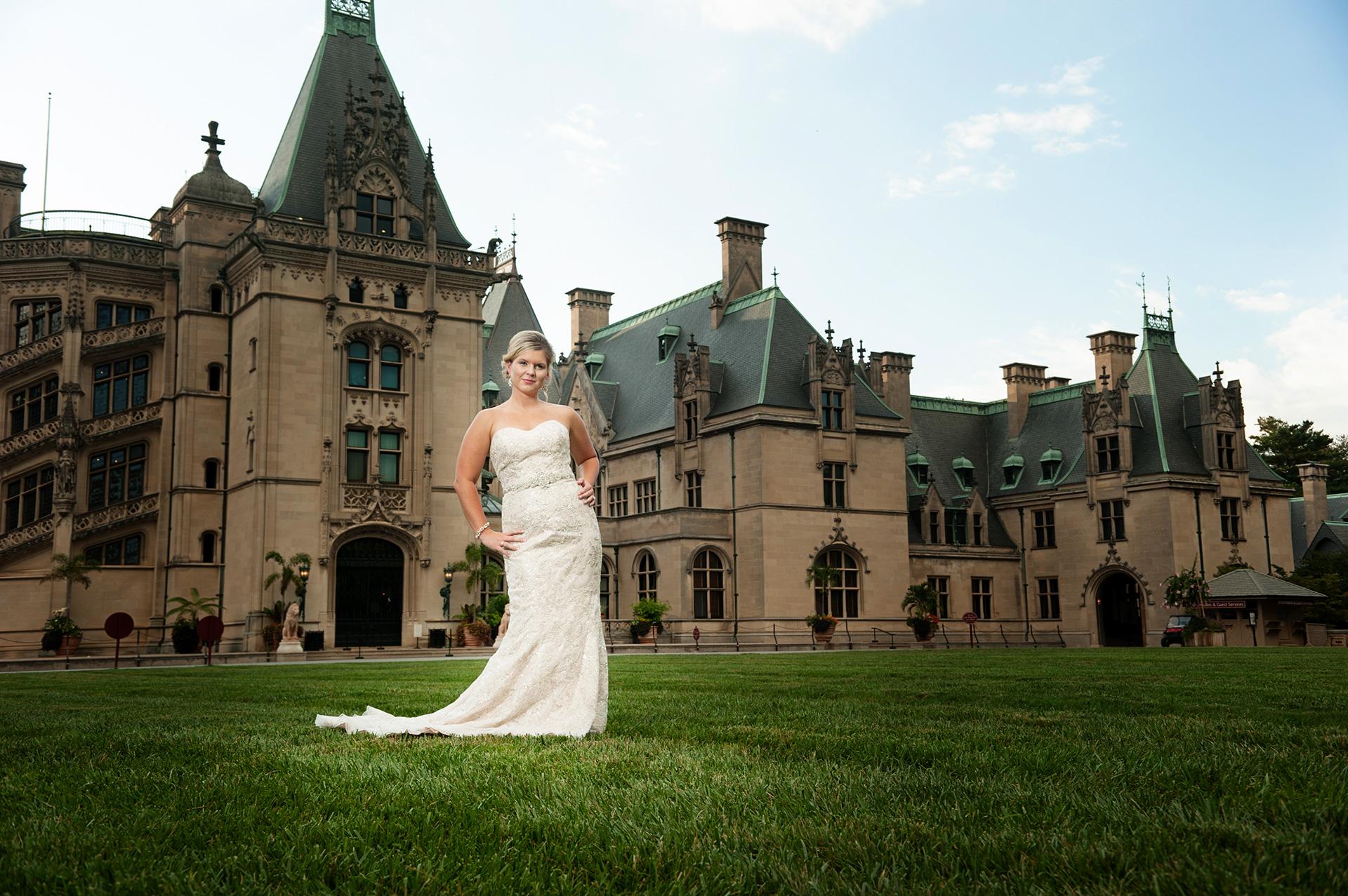 Bridal Portrait at Biltmore Estate